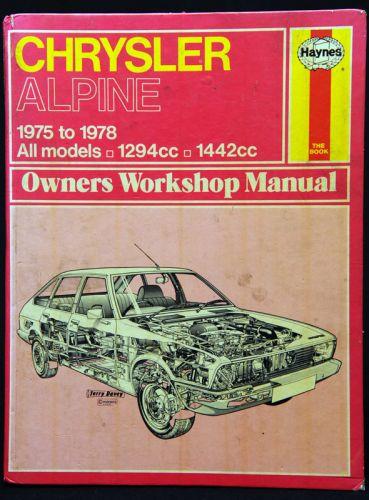 Haynes Manual Chrysler Alpine